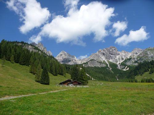 alm,Salzburger land,kalnų namelis,Alpių namelis,gamta,žygiai,oras,geras oras,grynas oras