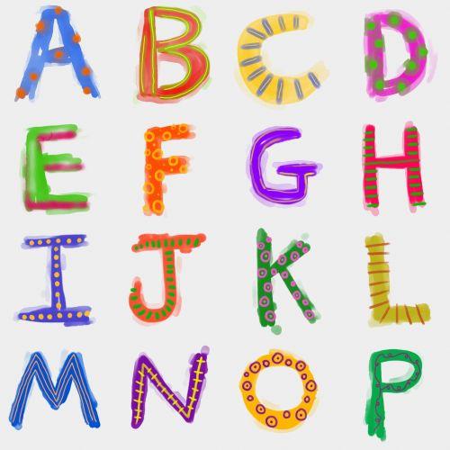 Iliustracijos, clip & nbsp, menas, iliustracija, grafika, dažyti, doodle, sunny, akvarelė, akvarelė, dizainas, raidės, abėcėlė, tekstas, šrifto, tipo, tipografija, tipografija, abėcėlė