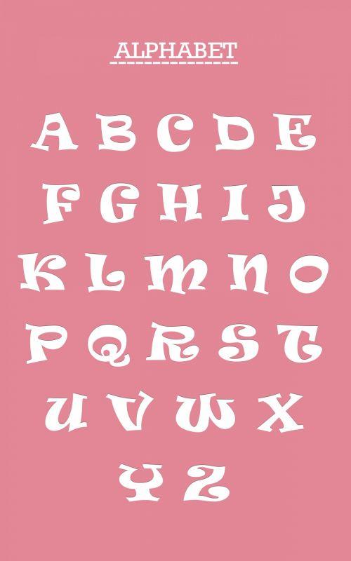 abėcėlė, raidės, šrifto, balta, rožinis, fonas, šiuolaikiška, funky, kapitalas, kapitalo & nbsp, raidės, plakatas, spausdinti, vaikai, mokyti, švietimas, švietimo, linksma, Scrapbooking, Laisvas, viešasis & nbsp, domenas, abėcėlės raidės