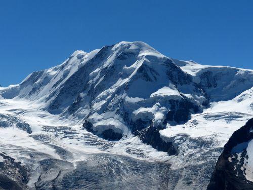 Alpių, Kalnai, Lyskamm, Ledynas, Šveicarija, Zermatt