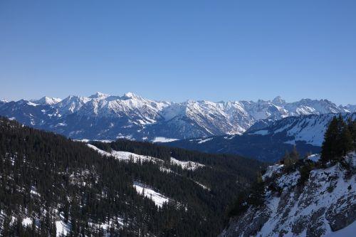 Alpių,Allgäu,Allgäu Alpės,dangus,kalnai,panorama,kraštovaizdis