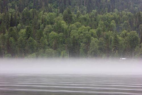 altas,rūkas,ežeras Телецкое