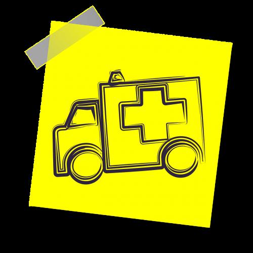 greitoji medicina,Skubus atvėjis,paramedikas,ligoninė,sveikata,avarija,transporto priemonė,medicina,gelbėjimas,gydytojas,sveikatos apsauga,sužalojimas,piktograma,geltona lipdukė,pastaba,rašyti pastabą