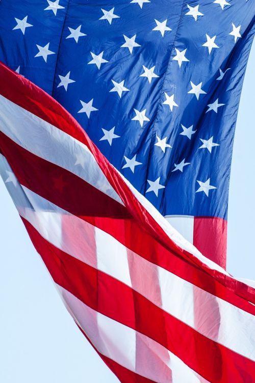 Amerikos vėliava,vėliava,raudona,balta,mėlynas,amerikietis,usa,patriotinis,žvaigždės,juostelės,patriotizmas,amerikietiška vėliava plaukioja,nepriklausomumas,usa flag