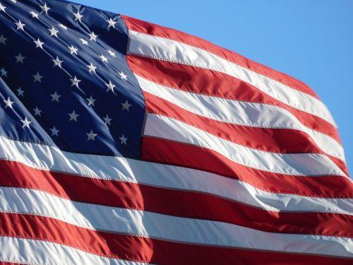 Amerikos vėliava,amerikietiška vėliava plaukioja,vėliava,simbolis,nacionalinis
