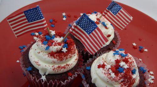 vėliava, Iš arti, cupcake, amerikietis, žvaigždės, raudona, balta, mėlynas, dykuma, maistas, apdaila, nepriklausomybė & nbsp, diena, 4th & nbsp, liepos, ketvirtas & nbsp, liepos mėn ., veteran & nbsp, diena, prezidento & nbsp, diena, memorialinis & nbsp, diena, darbo diena & nbsp, americana, patriotinis, amerikietiškos vėliavos keksukai
