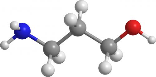 aminopropanolis,aminai,organinė chemija,3d,molekulės,chemija