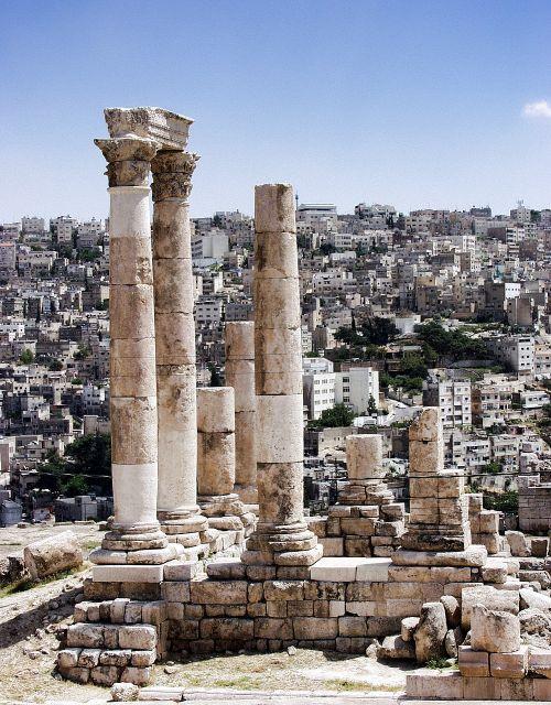 amanas,jordan,senovės,romėnų,paminklas,istorinis,stulpeliai
