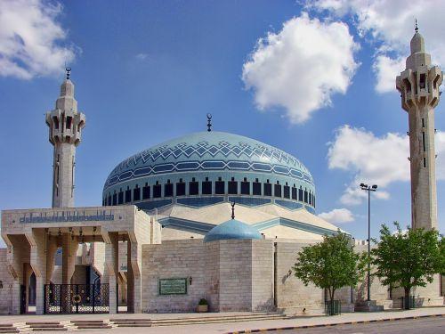 amanas,jordan,mėlyna mečetė,architektūra,orientyras,religija,pastatas