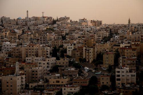 amanas,jordan,saulėlydis,miestas,Arabas,rytus,architektūra,arabiškas,vakaras,mečetė,viduryje
