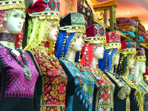 amanas,jordan,drabužis,orientuotis,uždanga,lėlės,Islamas,galvos skara