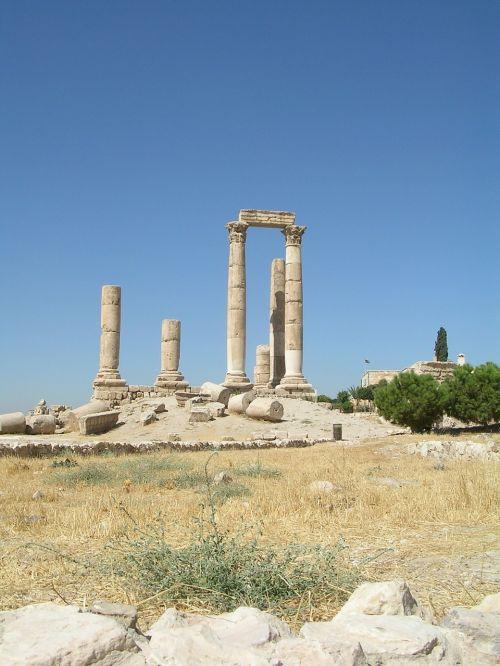 amanas,griuvėsiai,jordan,citadel kalnas
