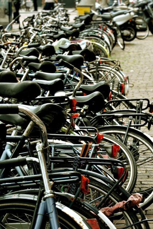 Amsterdamas,biketai,balnas