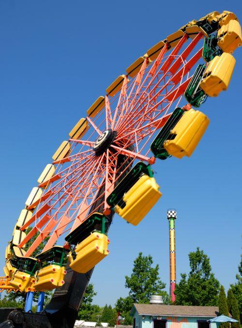 pramogų & nbsp, parkas, važiuoti, judėjimas, linksma, poilsis, jaudulys, lauke, žmonės, spalvinga, laisvalaikis, pramogų parko važiavimas