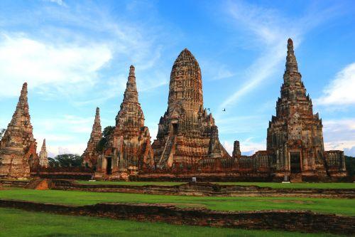 senovės šventykla,senoji šventykla,šventykla,ayudhya,istorinė svetainė,paveldas,siam