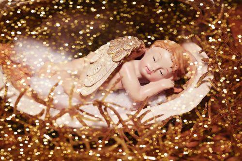 angelas,molio angelai,molio figūra,figūra,miega,mažas,Kalėdos,Adventas,palaimingas,auksas,apdaila,deko,Uždaryti