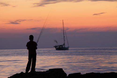 angelas,jūra,žuvis,šventė,fischer,papludimys,kranto,žvejys,vyras,ežeras,Viduržemio jūros,vanduo,kraštovaizdis