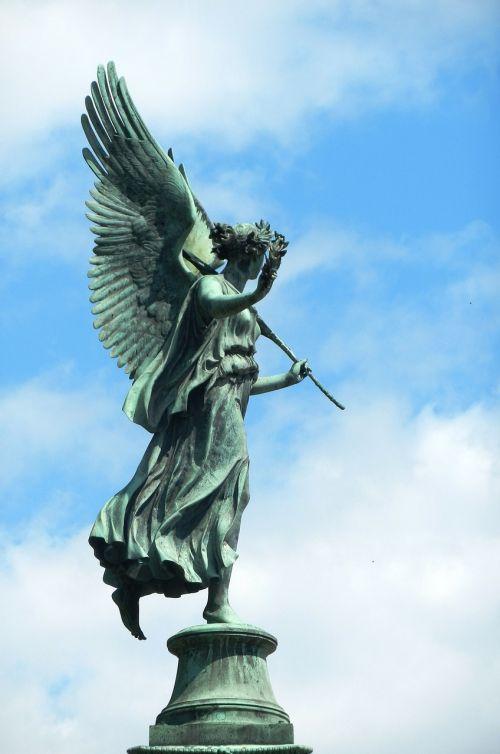 angelas,statula,statula,skulptūra,menas,ornamentas,statulėlė,figūrėlė,statula,apdaila,sparnai