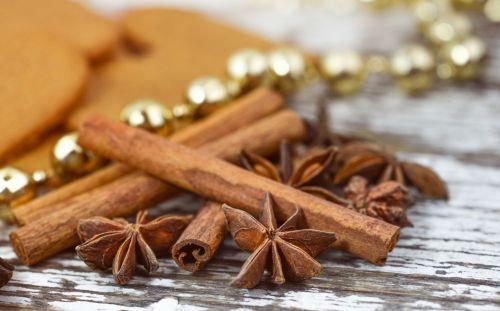 Kalėdos, anīsas, cinamonas, šventė, apdaila, šventė, mediena, kaimiškas, maistas, tradicinis, prieskoniai, anijonas ir cinamonas