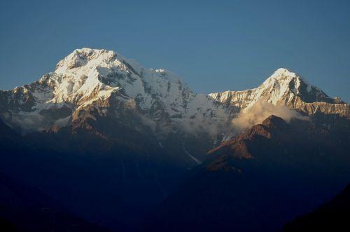 Annapurna,pasivaikščiojimas,kalnas,saulėtekis,bergsport,alpinizmas,sniegas,Rokas,aukštas,aukšti kalnai