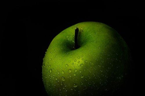 Apple, žalias, vaisių, žalias obuolys, organinė, sveiki, šviežias