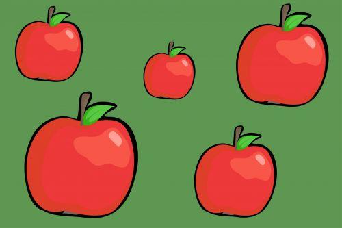 Iliustracijos, clip & nbsp, menas, iliustracija, grafika, animacinis filmas, maistas, skanus, skanus, valgomieji, bakalėja, vaisiai, obuoliai, tapetai, raudoni & nbsp, obuoliai, obuolių tapetai