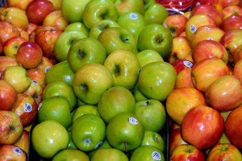 obuoliai, & nbsp, pardavimui, vaisiai, maistas, pardavimas, prinokę, ekologiškas, blizgantis, turgus, laikyti, mažmeninė, parduotuvė, natūralus, šviežias, sveikas, spalvinga, vegetariškas, bakalėja, derlius, verslas, prekybos centras, pirkti, stalas, spalva, žalias, mityba, lentyna, fonas, Veganas, mityba, raudona, parduodami obuoliai