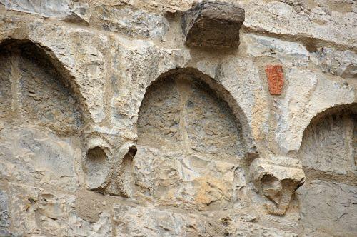 arka, arkos, architektūra, frizai, akmuo, siena, arkos