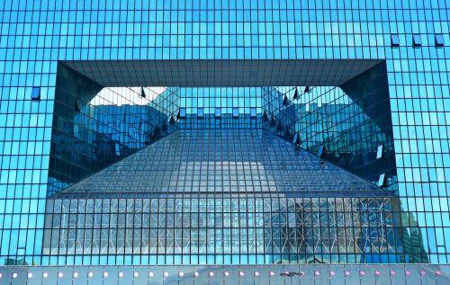 architektūra,paris,la défense,fasadas,dangoraižis,futuristinis,šiuolaikiška,pastatas,langas,lichtspiel,stiklo fasadas,biuro pastatai,žibintai,apmąstymai,abstraktus,forma,namo fasadas,stiklas,miestas