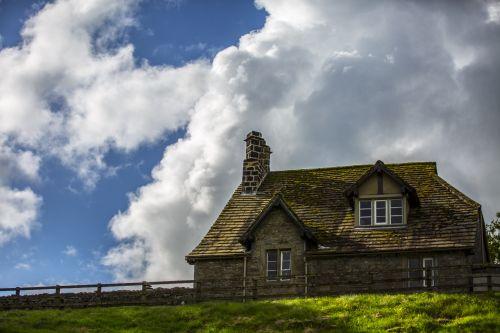 architektūra, namai, namas, dangus, tradicinis, Anglija, Jorkšyras, architektūra