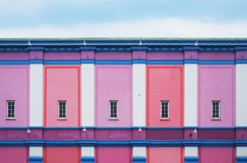 architektūra,pastatas,spalvinga,spalvinga,siena,langai