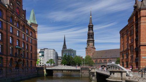 Architektūra, Miestas, Kelionė, Pastatas, Laivynas, Hamburgas, Speicherstadt, Plyta, Vokietija, Uosto Motyvai, Šiaurinė Vokietija, Bažnyčios
