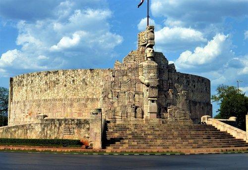architektūra, Meksika, kelionė, amžiuje, dangus, Senovinis, Senovinė architektūra, senoviniai griuvėsiai, paveldas