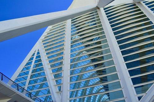 architektūra, modernus, statyba, perspektyva, modernus menas, šviesos, muziejus, moderni architektūra, paroda, mėlyna, modernus pastatas, futuristinis, stiklo, didelis, Valencia