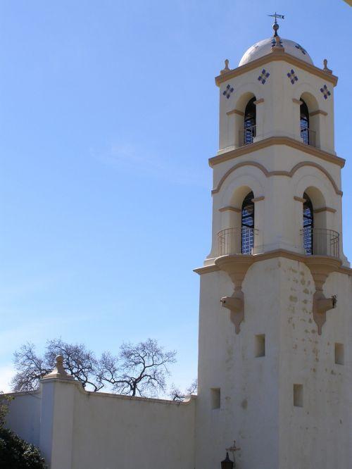 architektūra, arka, bokštas, misija, senas, dizainas, pastatas, paminklas, architektūra, orientyras