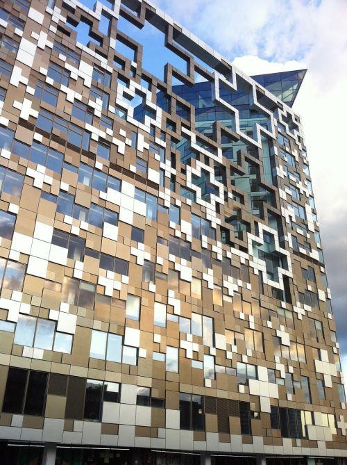 kubas,pastatas,architektūra,fasadas,dizainas,verslo pastatas,biuras,modernus pastatas,biurų pastatas,Birmingemas,Anglija