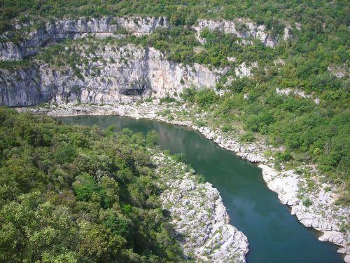 ardeche,upė,france,meanderas,kilpa,kanjonas,oro vaizdas,lenkti,george