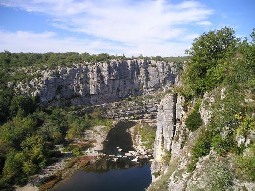 ardeche,Gorge,laipiojimas uolomis,upė,Rokas