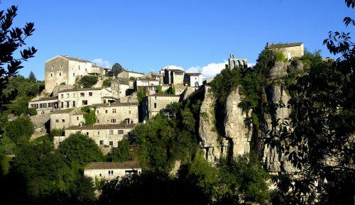 ardèche,akmenys,turistinis,seni namai,kraštovaizdis,prancūzų kaimas