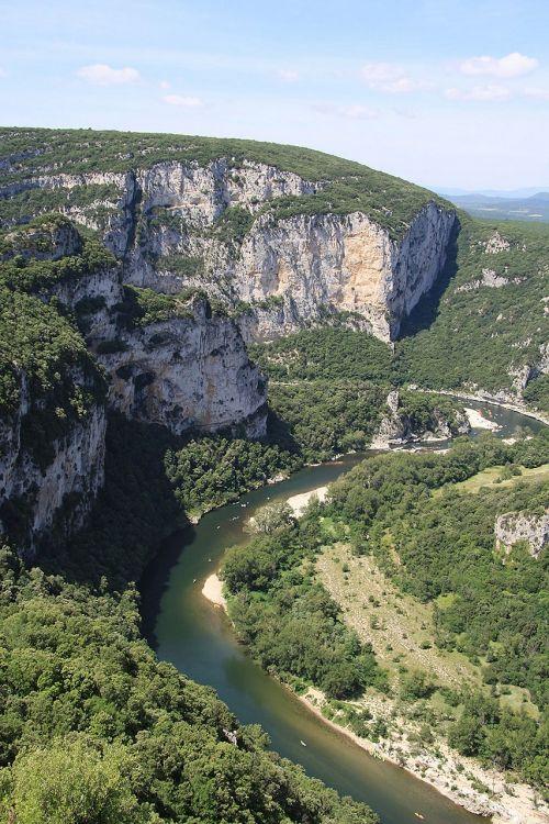 ardèche,Gorge,kalnai,upė