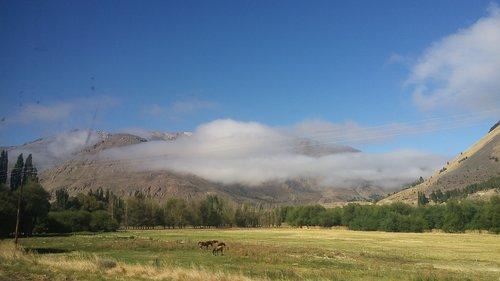 Argentina Patagonia, Pietų, stovai, Patagonia, Argentina, pobūdį, kraštovaizdis, kalnų, akmenys, debesys