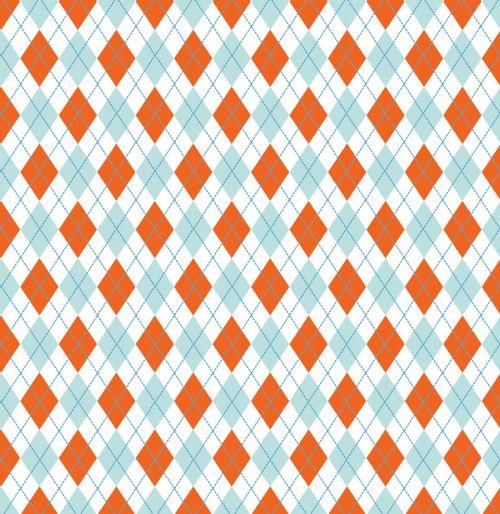 argyle, deimantas, deimantai, oranžinė, mėlynas, modelis, fonas, pavyzdys, tapetai, dizainas, Scrapbooking, iliustracija, menas, argyle oranžinė mėlyna