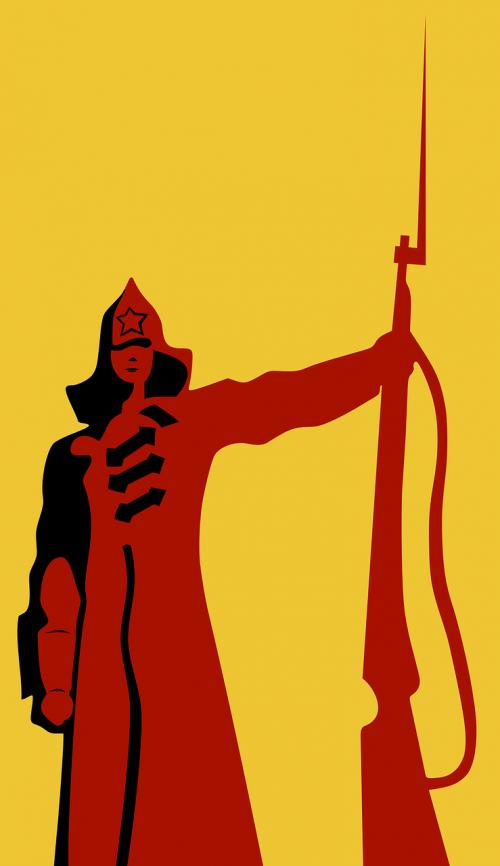 armija,bajonetas,raudona,Raudonoji armija,revoliucija,šautuvas,kareivis,sovietinė,nemokama vektorinė grafika