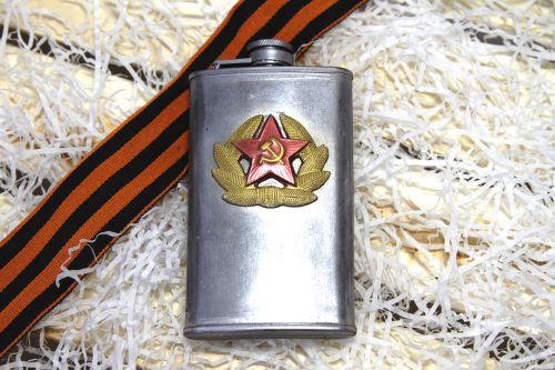 kolba,butelis,aliuminis,metalas,kariuomenė,armija,Pergalės diena,sovietų armija
