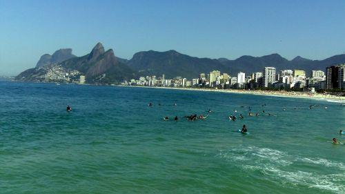 arpotažas & nbsp, paplūdimys, rio & nbsp, & nbsp, janiero, ipanema, Brazilija, papludimys, vandenynas, saulė, Arpoador paplūdimys