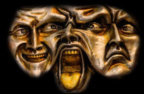 menas,veidai,kaukė,galva,3 veidai,žmogus,psichika,išraiška,imituoti,psichologija,siela,juoktis,rūpestis,verkti,akys,baimė,veidas,krizė,jausmai,mįslingas