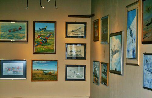 galerija, siena, paveikslai, menas, aviacija, meno galerija aviacijos menui