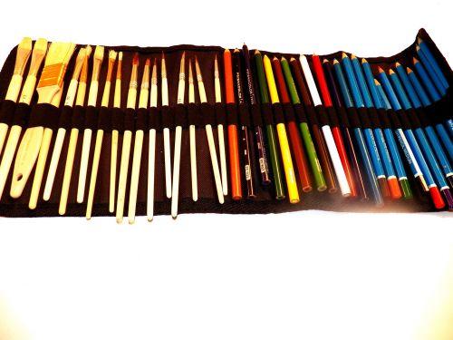 menas, menininkas, šepetys, šepečiai, piešimas, eskizas, meno & nbsp, įrankiai, pieštukai, anglys, pastelės, drobė, dailės reikmenys