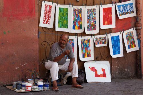 menininkas,Marokas,paveikslai