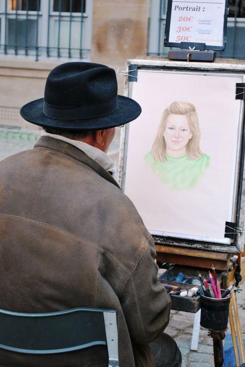 menininkas,molbertas,menas,dažymas,piešimas,merginos piešimas